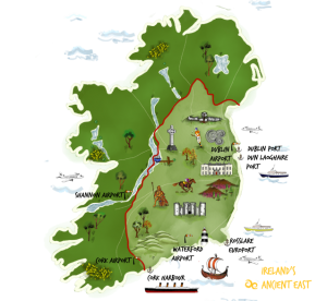 Irelands Ancient East Map